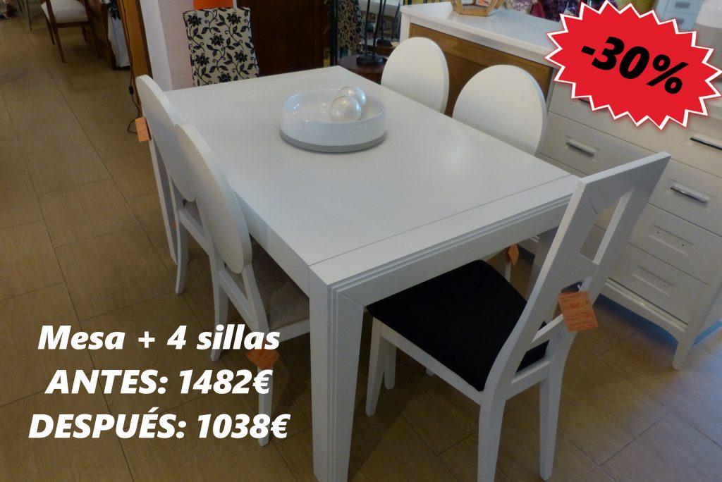Mesa Comedor Y Sillas Outlet 30 Dto Muebles Toscana
