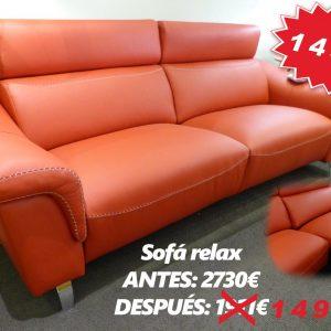 Sofá relax oferta