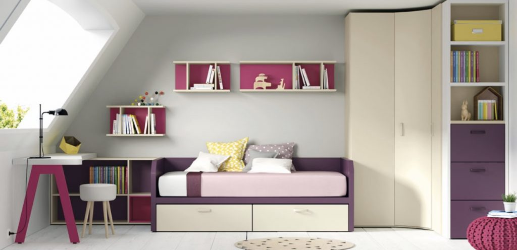 Dormitorio juvenil con armario rincón Casablanca