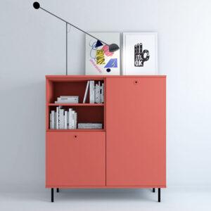 Aparador modular VITA 01 coral Muebles-Toscana