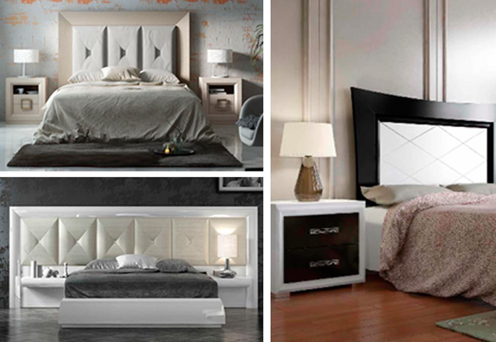 Ejemplos de dormitorios tapizados