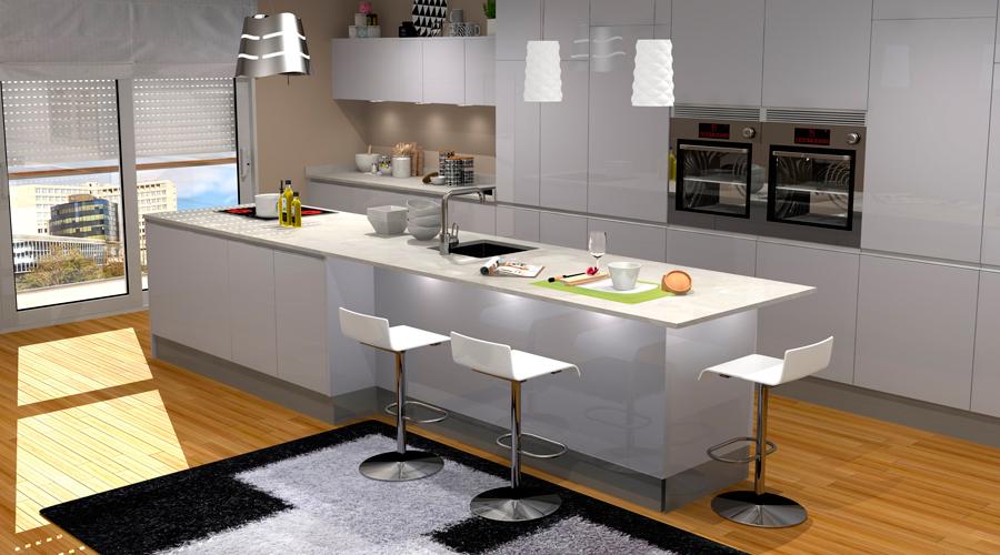 Proyecto 3D Muebles Toscana Cocina 3