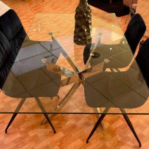 Mesa-cristal-y-4-sillas-de Muebles Toscana