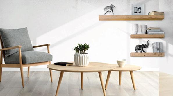Mesa centro estilo nordico de muebles Toscana