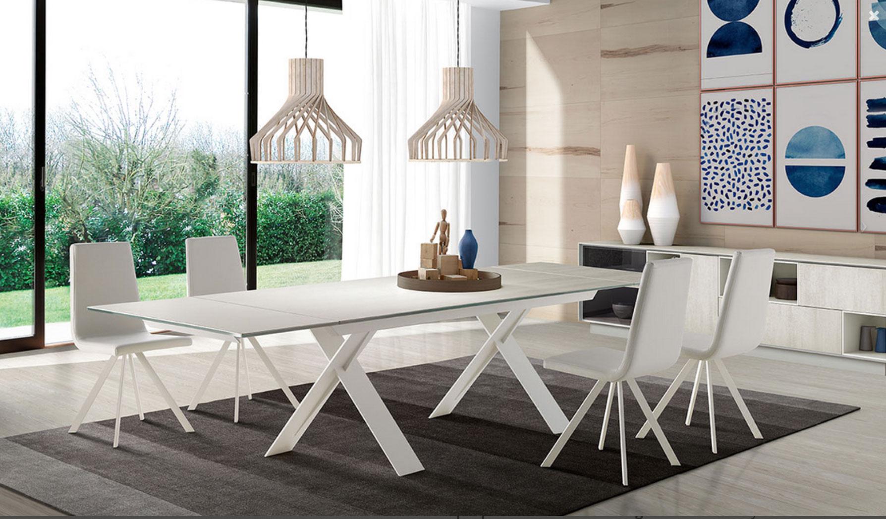 Mesa comedor Xenon blanca Muebles Toscana