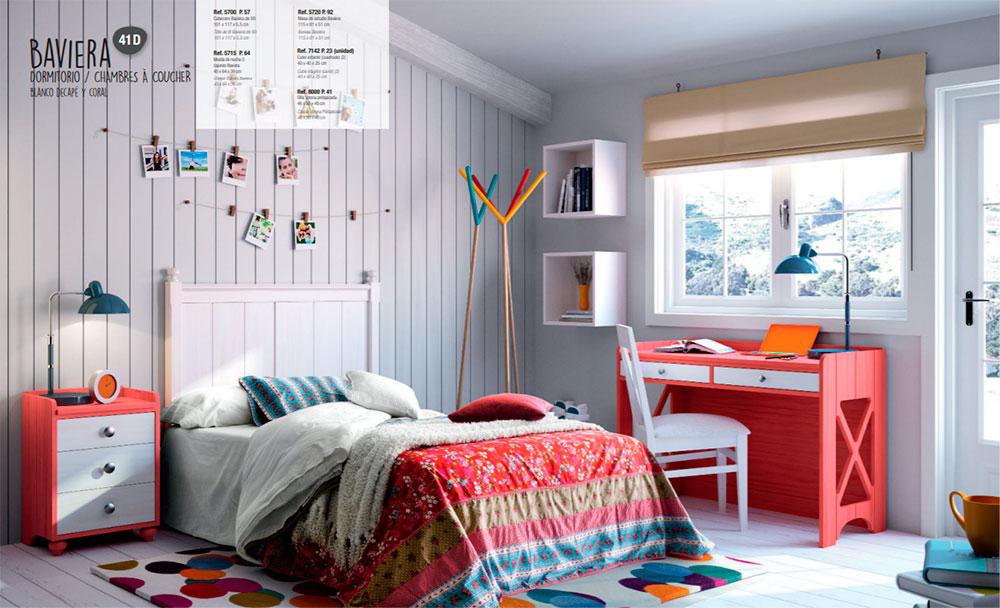 Dormitorio juvenil estilo colonial muebles toscana - Dormitorios estilo colonial ...