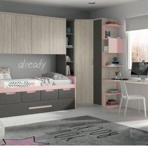 Muebles Toscana dormitorio juvenil moderno mucho espacio