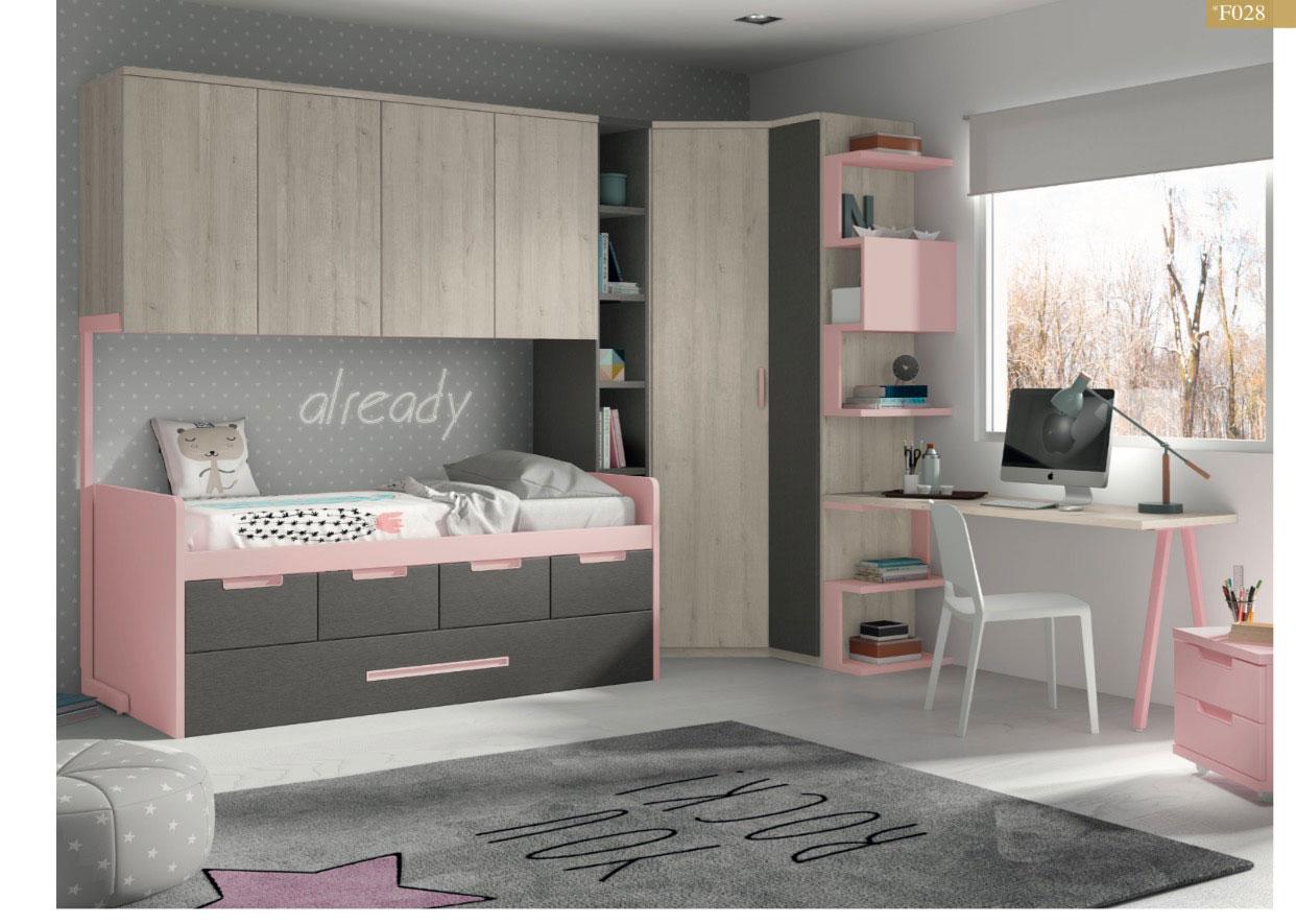 Dormitorio juvenil moderno con mucho espacio muebles toscana for Muebles la toskana