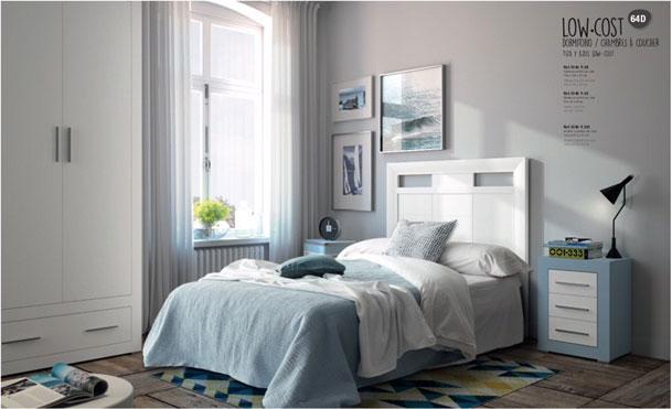 Muebles Toscana dormitorio juvenil moderno lineas rectas