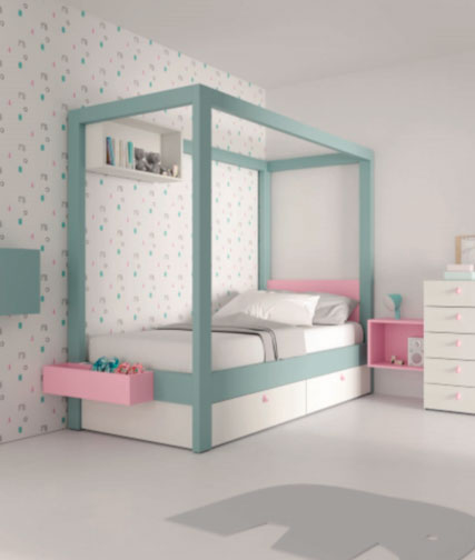 Muebles Toscana dormitorio Canopy azul