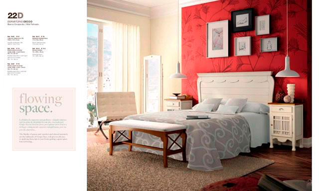 Muebles Toscana dormitorio colonial romántico
