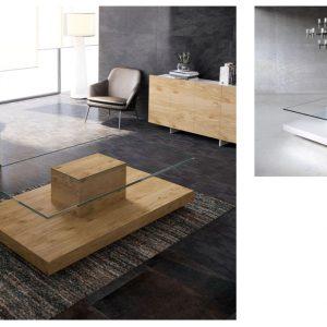 Muebles Toscana mesa de centro tapa cristal