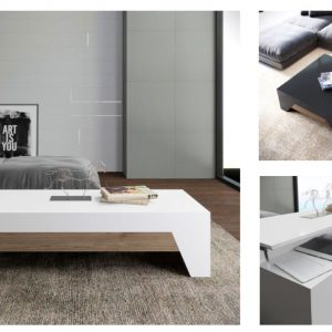 Muebles Toscana mesa rectangular elevable hueco interior
