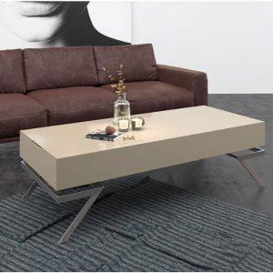 Muebles Toscana Mesa de centro rectangular lacada en arena