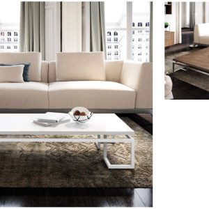 Muebles Toscana mesa de centro rectangular lacada en blanco mate