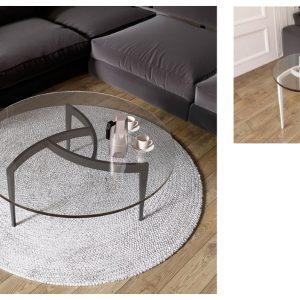 Muebles Toscana mesas de centro redonda patas hierro