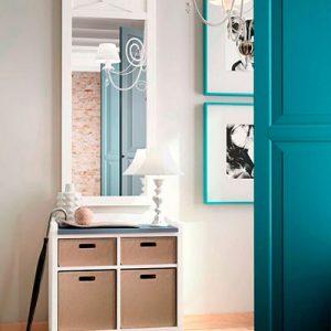 Muebles Toscana recibidor colonial con espejo vestidor