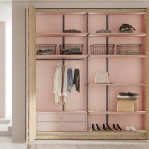 armario Slim puertas plegables Muebles Toscana