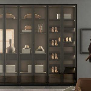 armario frente de cristal lagrama Muebles Toscana