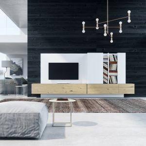 Salón moderno Besform 93 muebles Toscana