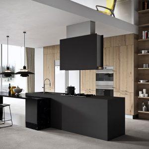 Cocina negra moderna Ideal
