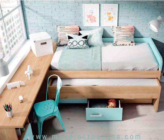 Juvenil compacto con mesa de estudio