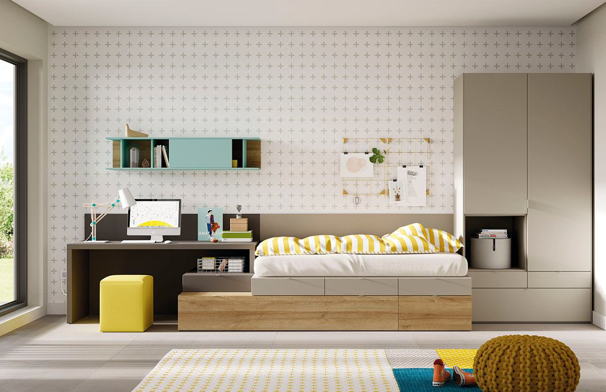Dormitorio Kubox doble de Muebles Toscana
