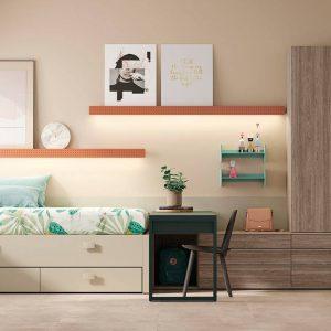 Dormitorio Compacto Grenoble de Lagrama Muebles Toscana