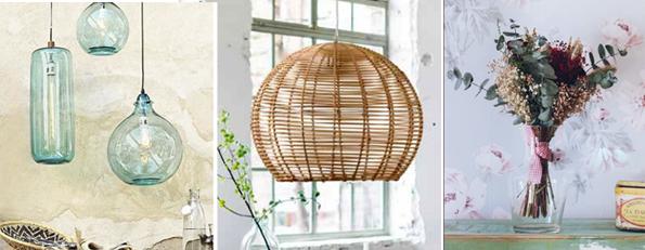 lamparas y detalles decorativos de Muebles Toscana