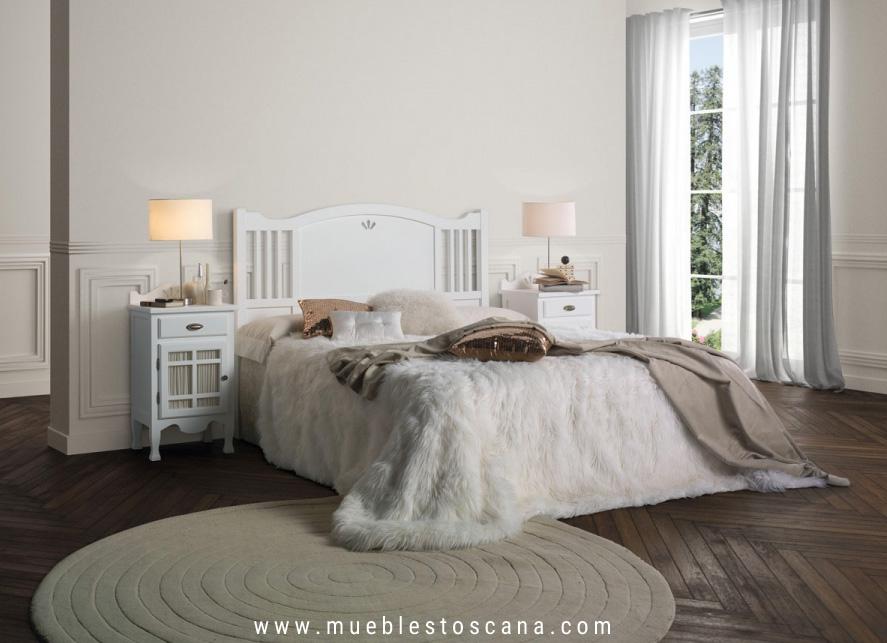 Dormitorio de matrimonio colonial Decco