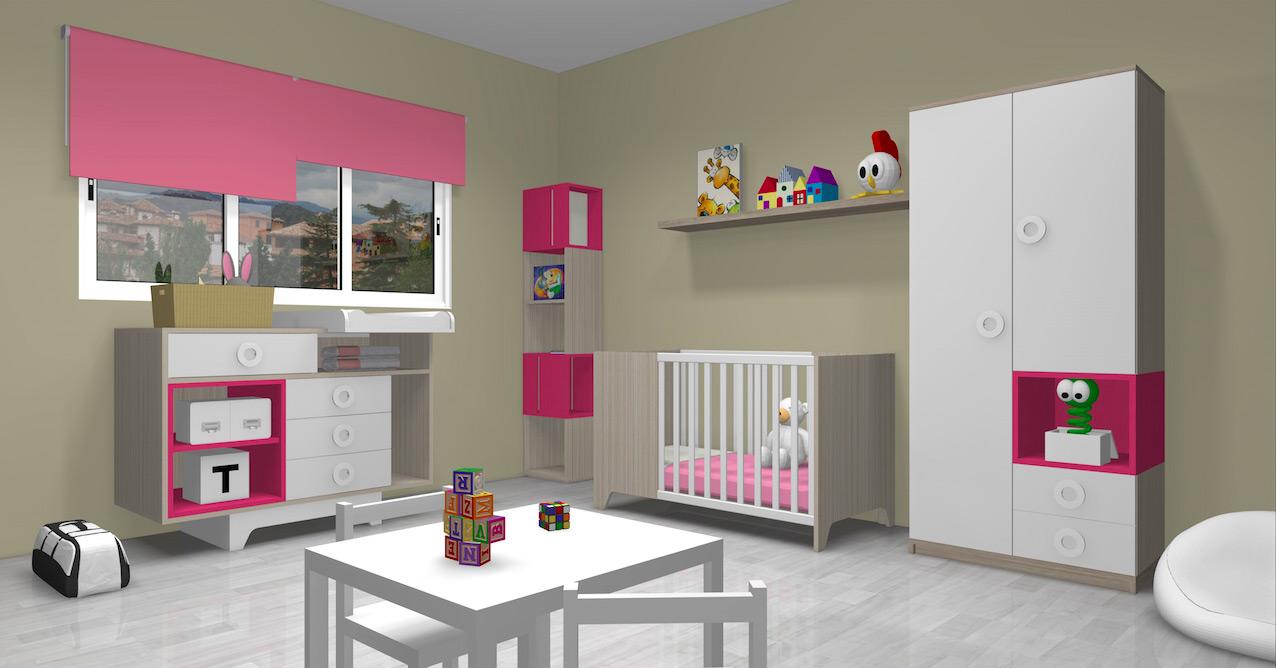 dormitorio-infantil-rosa-3d