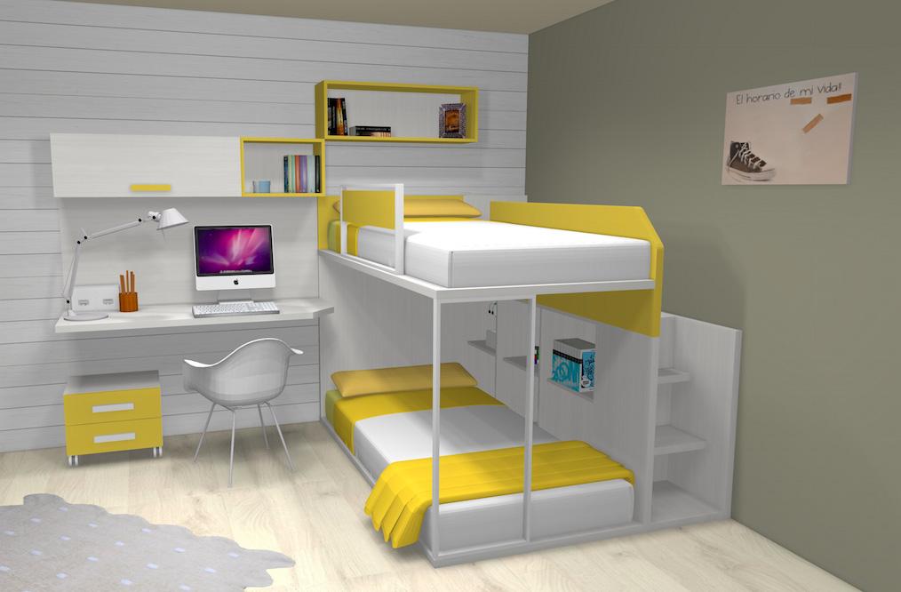 dormitorio-juvenil-literas-3d