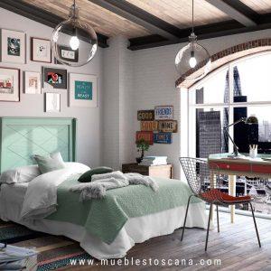 Dormitorio juvenil estilo vintage modelo Coimbra