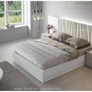 Dormitorio de matrimonio moderno lacado