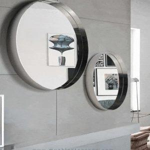 Espejo redondo acero