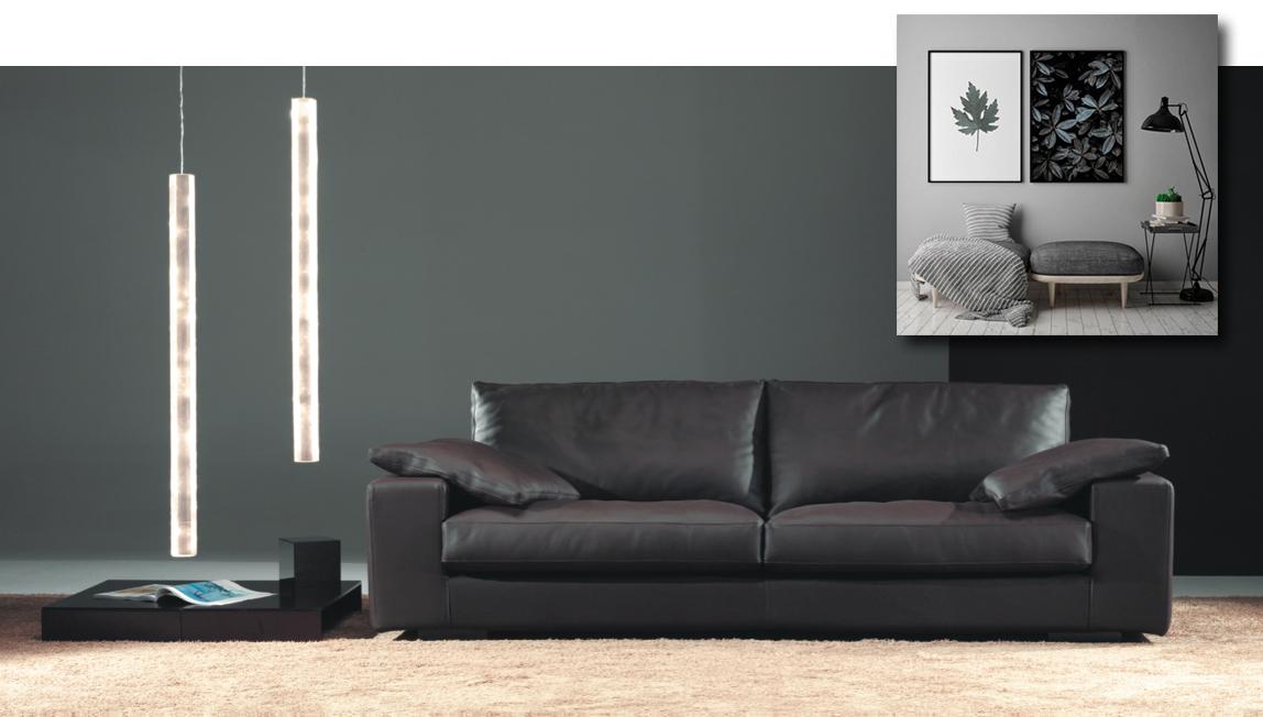 Sofá negro de Muebles Toscana