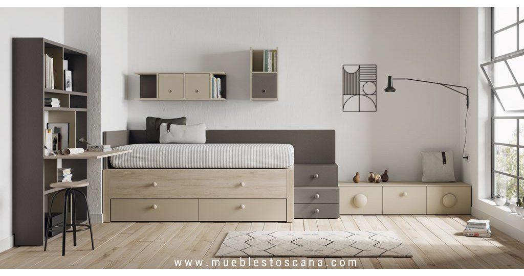 Dormitorio juvenil compacto Grenoble