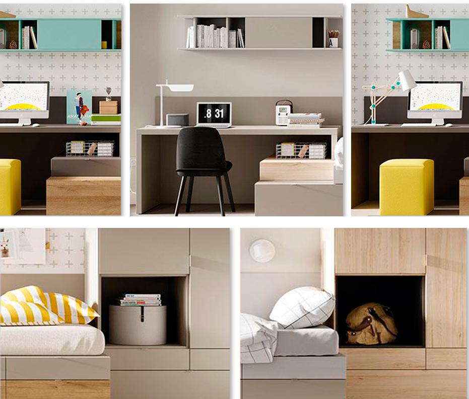 Diferentes diseños de dormitorio Kubox