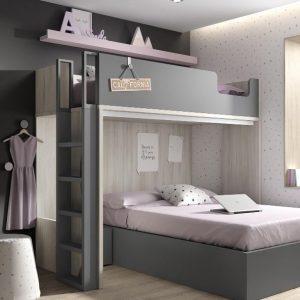 Litera con cama canapé 45 Mood Kids Ros Muebles Toscana