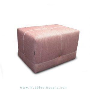 Puf moderno Bottom rosa
