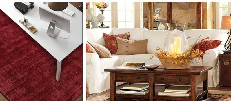 decoracion en Rojos de muebles Toscana