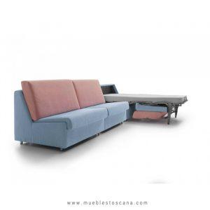 Sofá cama dos plazas modular Miño