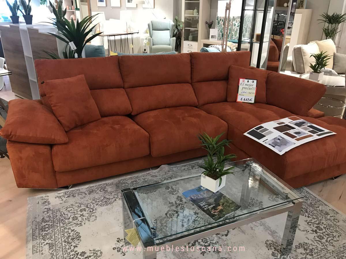 Sof con chaiselonge de oferta en exposici n en muebles canad en coslada - Muebles en coslada ...